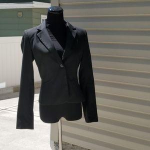 H & M black pinstripe blazer